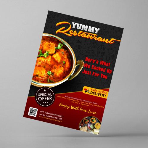 Yummy Restaurant - Leaflet