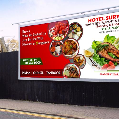 Surya Restaurant Billboard Design