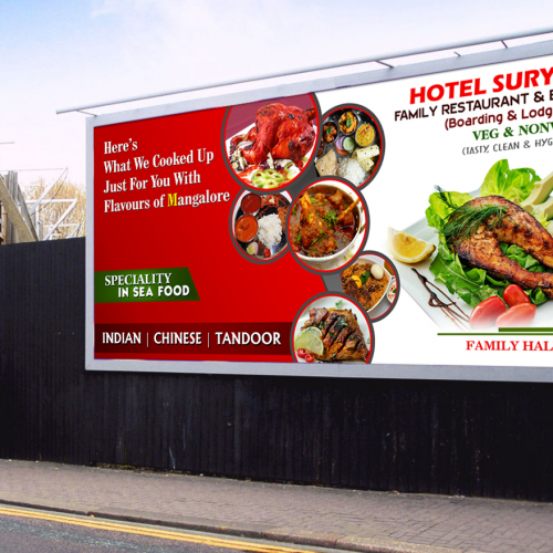 Surya Restaurant Billboard Design