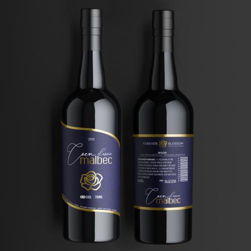 Wine label design for Forever Blossom