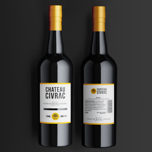 Chateau Civrac Wine Label Design