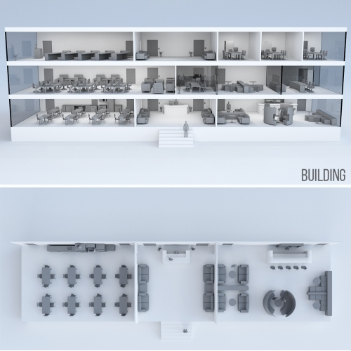 Building space  - 3D presentation