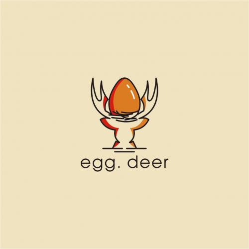 egg. deer