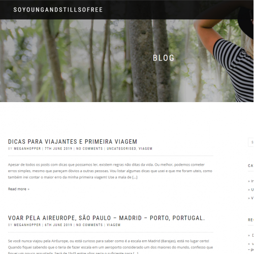 Minimalistic wordpress blog design