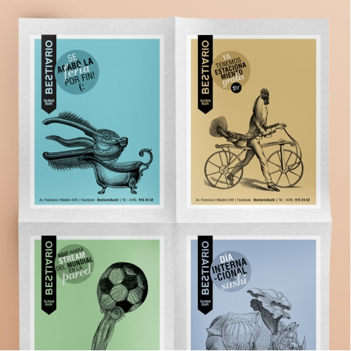 Bestiario - Corporate Identity - Illustration
