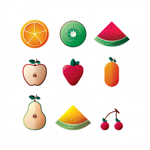 Fruit Icon Design for stockunlimited.com