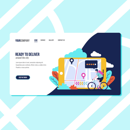 Bicycle delivery service landing page