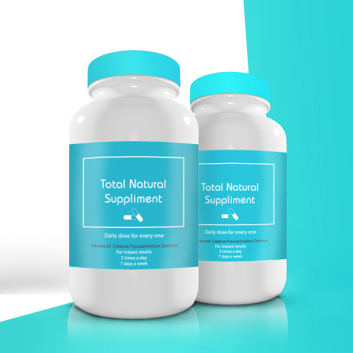 Beauty Medicine pills Label design