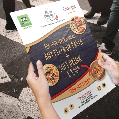 Restaurant Advert Poster Design