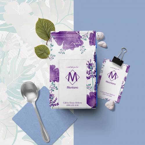 Tea Pouch Label and Packaging and Tag design