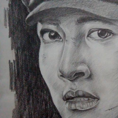 Ji chang Wook's pencil portrait