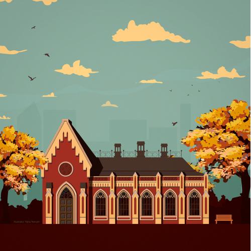 Illustrations dedicated to my hometown. Chernihiv