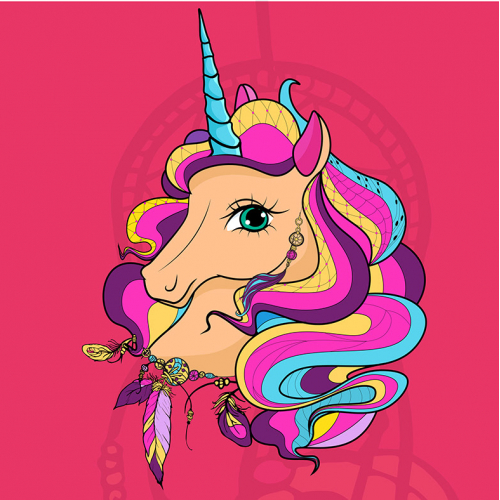 Stylish unicorn