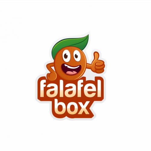 Falafel Box Character Packaging Food and Logo