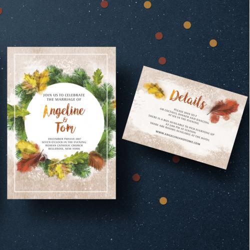 Autumn WeddingA Invitation Set