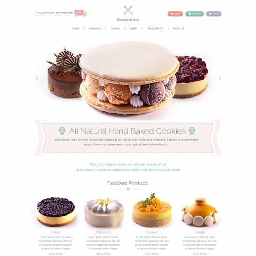 Website Design for Cake Shop