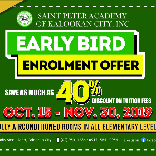 Early Bird Enrolment Promo
