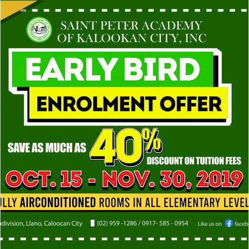 Early Bird Enrolment Promo