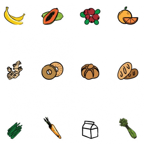 Icons for a Cafe