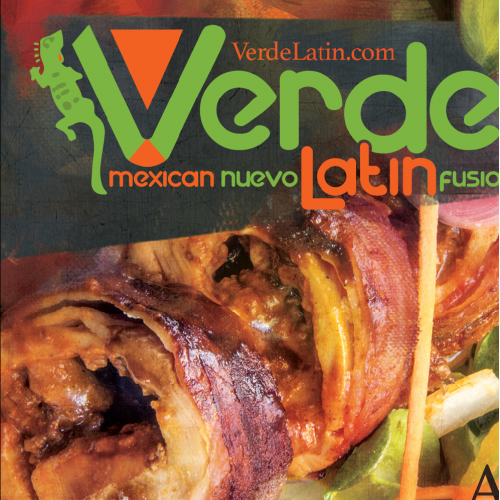 Ad layout and design for Verde Latin