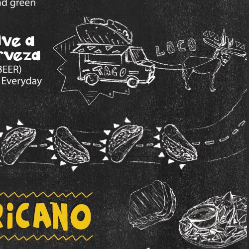 Menu Board Designs for Burrito Loco Restaurant