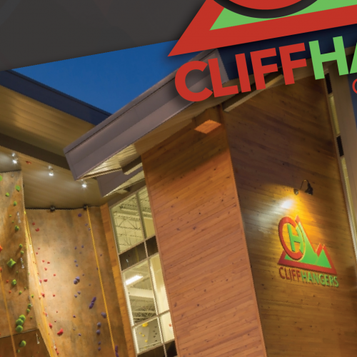 Logo and branding for major indoor climbing facility