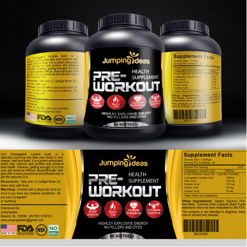 Pre-Workout Label Design