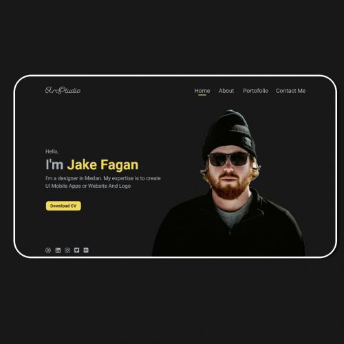 UI Personal Landing Page