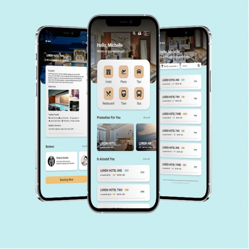 UI Mobile Hotel and Ticket Booking app