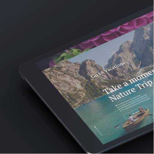 Website design for Ipad