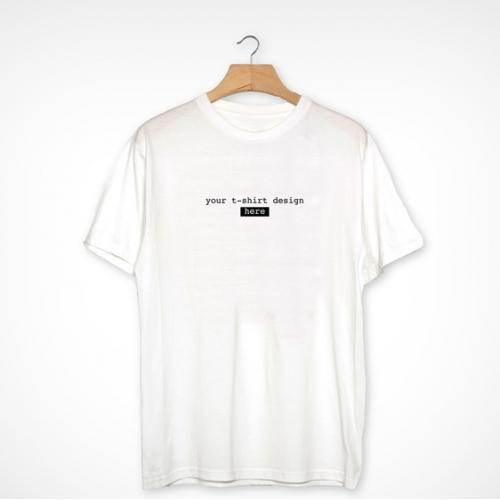 Plain White Realistic T-shirt Mockup