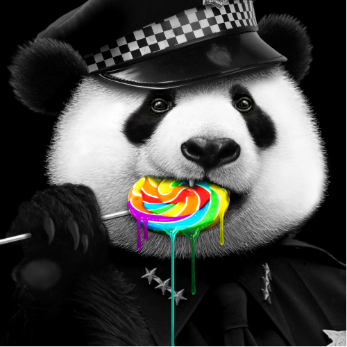 PANDA LOVES LOLLY-POP