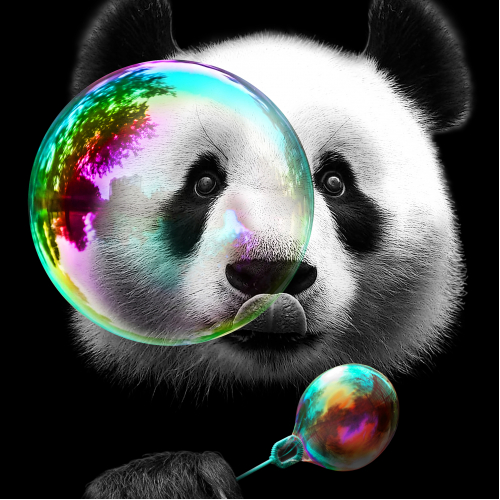 PANDA LOVES BUBBLES