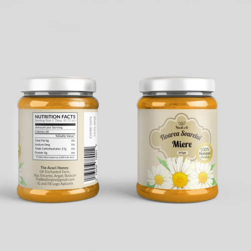 jar label design