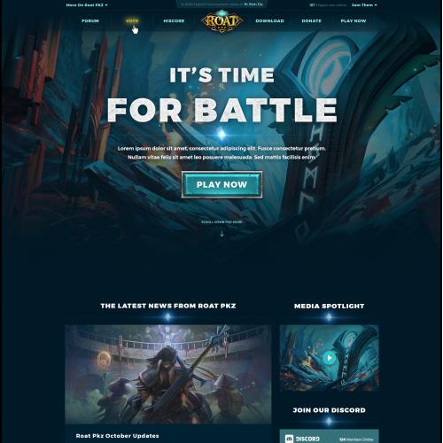 Gaming Community Website Design
