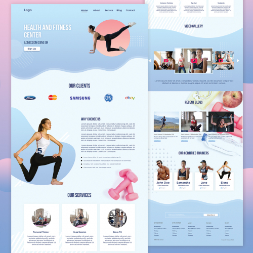 Health and Fitness PSD Theme