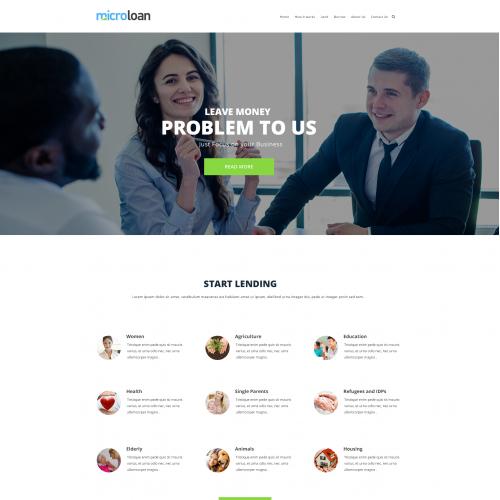 Microloan web design