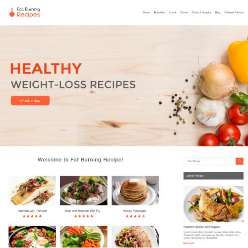 Fat burning Web Design