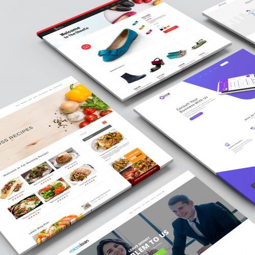 Web Designs Mock ups