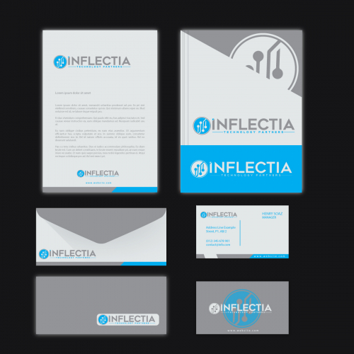 technology with Logo And Business Card Design
