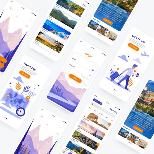 Travel application concept