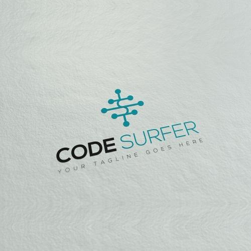 Code Surfer logo design