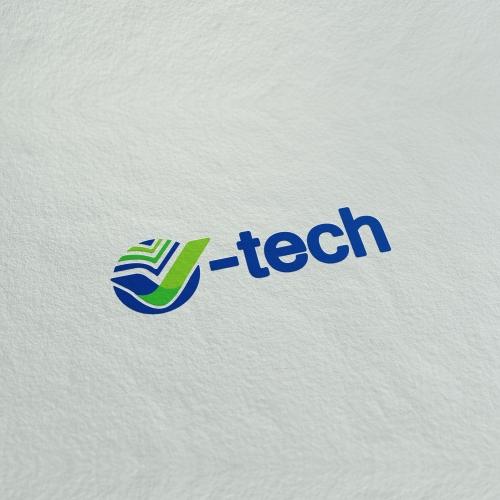V-tech logo design