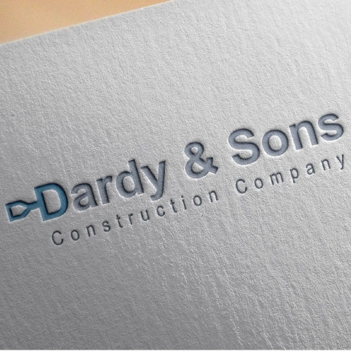 Dardy and Sons Construction Company Logo Design