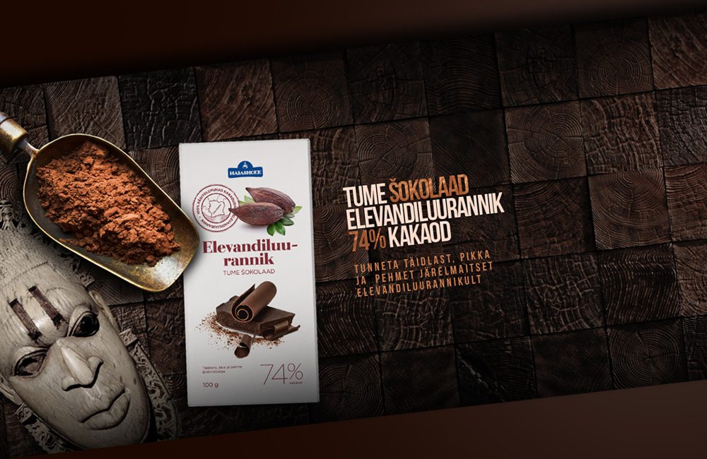 Banners for chocolate company