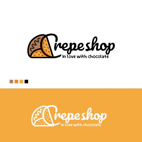 Crepe shop Logo
