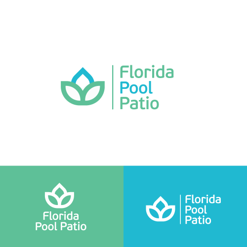 Florida pool patio Logo