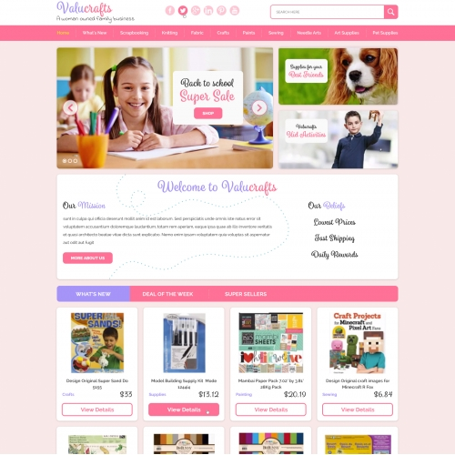 Feminine Website Clean and Professional