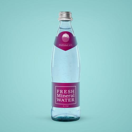 Water bottle label deign