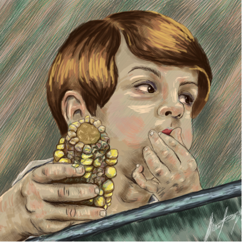 Eating corn